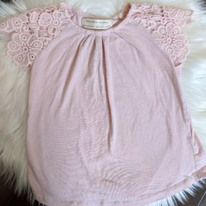 Zara pink lace sleeve top